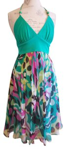 MILLY short dress Multicolor Halter on Tradesy