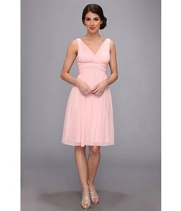 Donna Morgan Blush Chiffon Jessie Feminine Bridesmaid/Mob Dress Size 4 (S)
