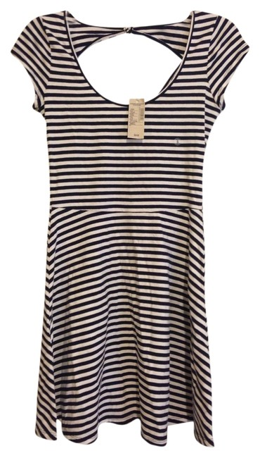 American Eagle Outfitters short dress Navy/white on Tradesy