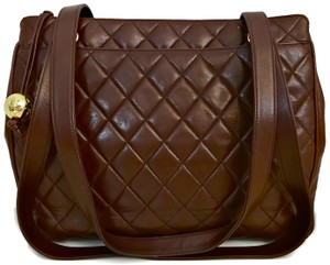 Chanel Quilted Lambskin Tote Shoulder Bag