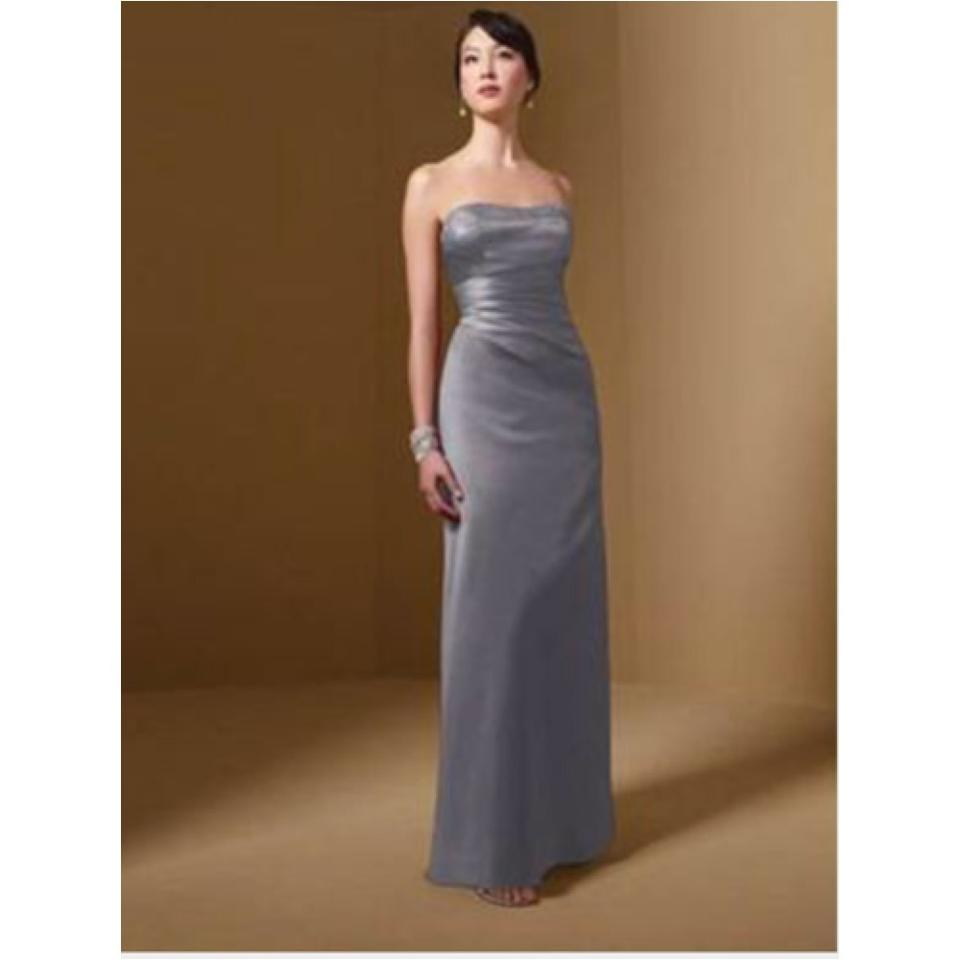 Alfred angelo charcoal satin traditional bridesmaidmob dress size 12345 ombrellifo Images