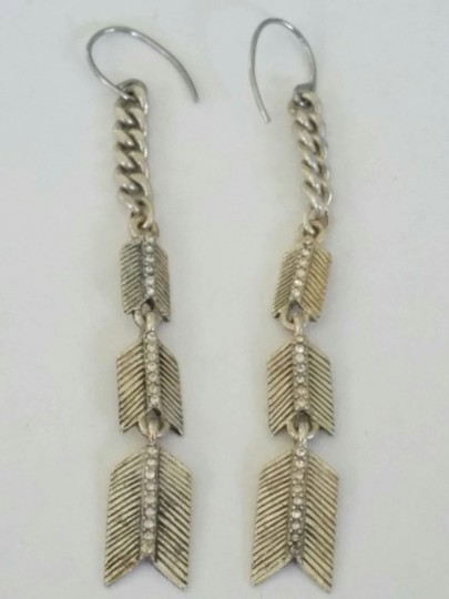 Other Sterling Silver Chevron Dangle Earrings Image 1