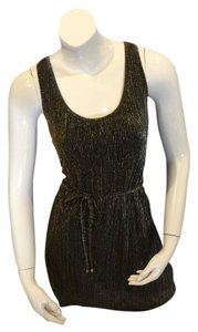 Almost Famous Clothing Shimmer Sleeveless Hi Lo Dress