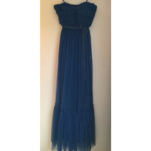 BHLDN Blue/Teal Tulle Feminine Bridesmaid/Mob Dress Size 14 (L)