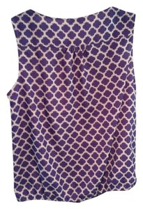 Ann Taylor LOFT Sleeveless Top Purple & White
