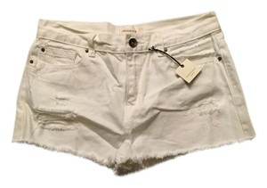 Forever 21 Distressed Cutoff Cut Off Shorts White
