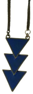 Urban Outfitters Urban Outfitters Cobalt Blue Arrow Necklace