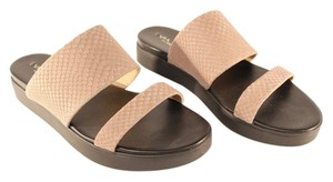 Via Spiga Leather Slide In Beige Sandals