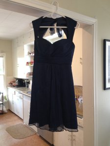 Amsale Navy Blue Dress