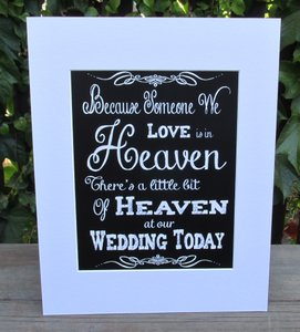Rustic Wedding Sign-chalk Board Look Because Someone We Love Is In Heaven