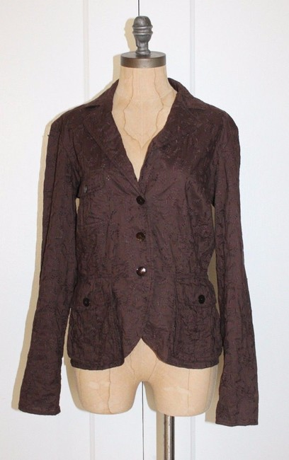 Armand Ventilo Emroidered Floral BROWN Jacket Image 1