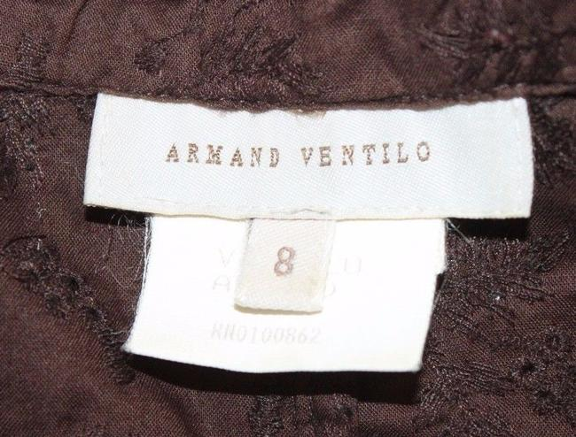 Armand Ventilo Emroidered Floral BROWN Jacket Image 2