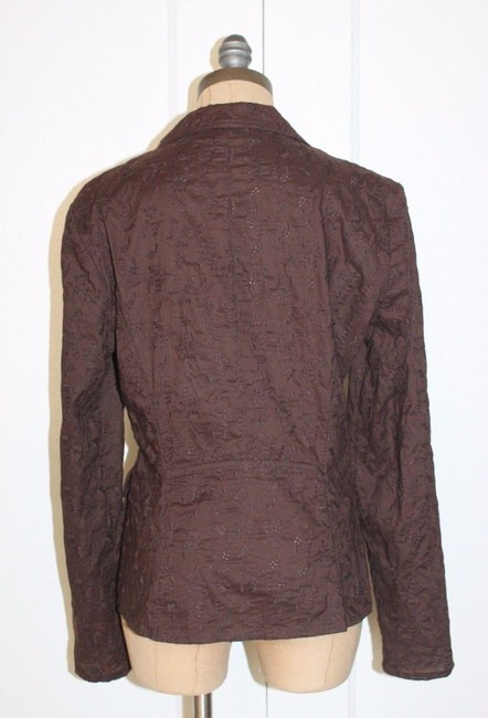 Armand Ventilo Emroidered Floral BROWN Jacket Image 3
