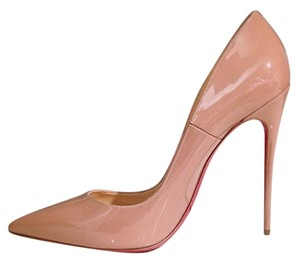 Christian Louboutin Size 39.5 Stiletto Pointed Toes nude Pumps