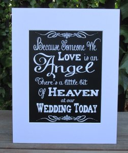 Rustic Wedding Sign For Your Memory Table-because Someone We Love Is An Angel