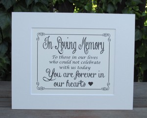 Rustic Vintage Wedding Sign-perfect For Your Memory Table -ivory 11