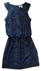 Max Studio Specialty Products short dress Navy with Green birds on Tradesy