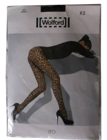 Wolford Wolford black on black Leo animal print nylons, XS.