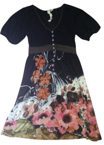 Nick & Mo short dress Black with floral detail on Tradesy