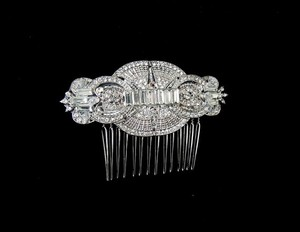 Other Vintage Inspired Bridal Art Deco Crystals Side Hair Comb