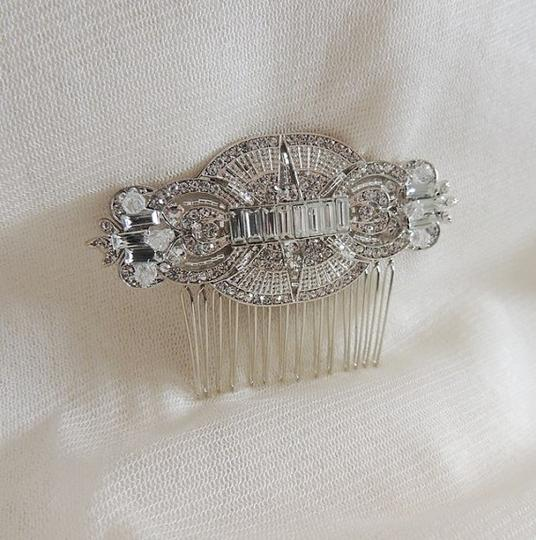 Vintage Inspired Art Deco Crystals Side Hair Comb Brooch/Pin