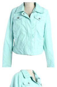 Jou Jou mint green Leather Jacket