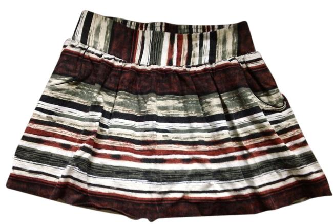 Charlotte Russe Striped Mini Skirt Multi