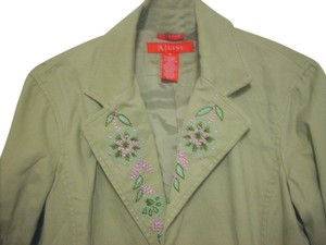A-Line Vintage Embroidered beige Jacket