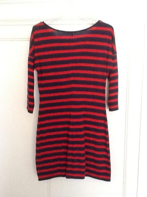 Express short dress Navy and red stripe on Tradesy