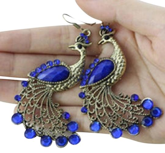 CoCoon Gorgeous Blue Gemstone Peacock Earring