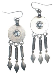 Antiqued Silver/Pewter Tone Drop Dangle Earrings