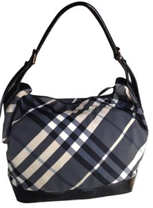 Burberry Hobo Tote Beat Check Shoulder Bag