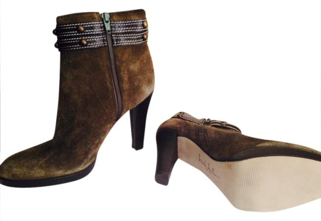 Item - Luden Green Suede Boots/Booties Size US 7.5 Regular (M, B)