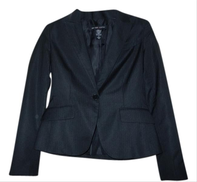 Jones New York Suit Jacket Black Pinestripe Blazer