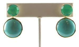 Ippolita IPPOLITA 18K Yellow Gold Modern Rock Candy Gelato Post Drop Earrings Turquoise