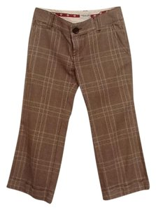 American Eagle Outfitters Capris Brown plaid