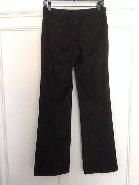 Express Straight Pants Black pinstripe