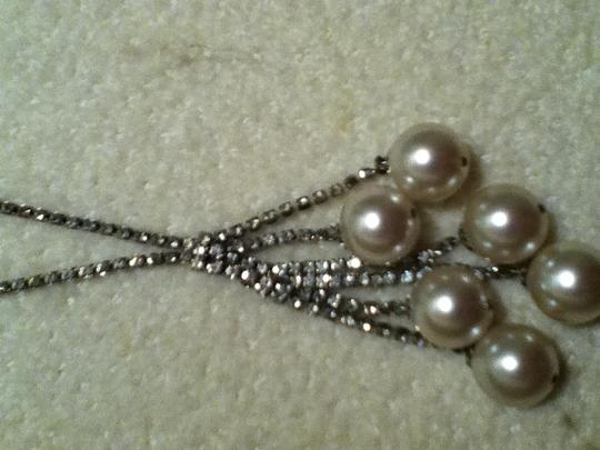 Other Vintage faux pearl and rhinestone necklace