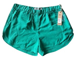 Calypso St. Barth Silk Teal Nwt Medium Shorts Wheatgrass