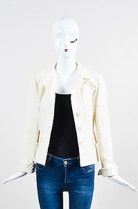 Akris Punto Wool Rib Cream Jacket