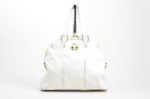 Saint Laurent Yves Rive Tote in White