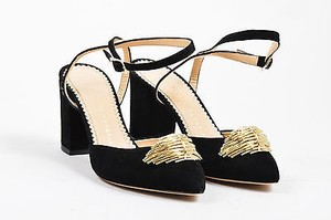 Charlotte Olympia Suede Black Pumps