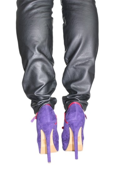 Two Lips Heels Mary Jane Platform Purple/Pink Pumps