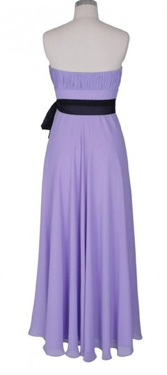Purple Chiffon Strapless Long Pleated Bust Feminine Bridesmaid/Mob Dress Size 20 (Plus 1x)