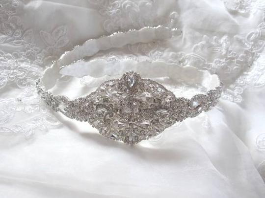 Other Bridal Dress Gown Beaded Jeweled Crystal Belt Sash