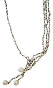Other Pearl & Silver Lariat Necklace