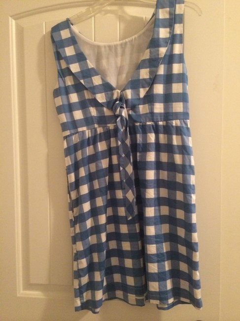 Tulle short dress Blue and White on Tradesy