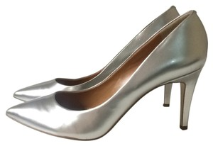 J.Crew Metallic silver Pumps