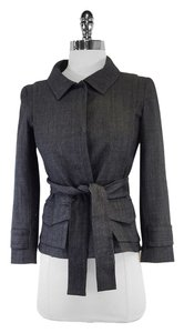 Theory Grey Wool Suit Jacket