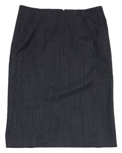 Theory Grey Wool Suit Skirt